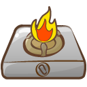 Cooker Fire Emoticon