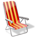 Beach Sit Emoticon