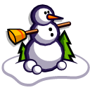 Snow Man Emoticon