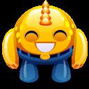 Yellow Monster Happy Emoticon