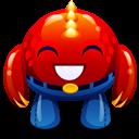 Red Monster Happy Emoticon