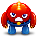 Red Monster Angry Emoticon