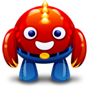 Red Monster Emoticon
