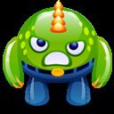 Green Monster Happy Emoticon