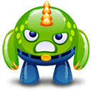Green Monster Angry Emoticon
