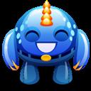 Blue Monster Happy Emoticon