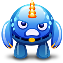 Blue Monster Angry Emoticon