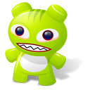 Green Toy Emoticon