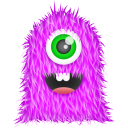 Purple Monster Emoticon