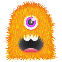 Orange Monster Emoticon