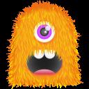 Orange Monster Emoticon