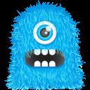 Blue Monster Emoticon