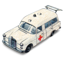 Mercedes Benz Ambulance With Open Boot Emoticon