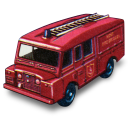 Land Rover Fire Truck Emoticon
