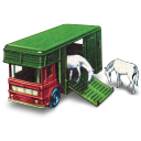 Horse Box With Two Horses Emoticon