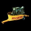 Honda Motorcycle With Trailer Emoticon