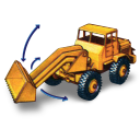 Hatra Tractor Shovel With Movement Emoticon