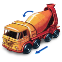 Foden Concrete Truck With Movement Emoticon