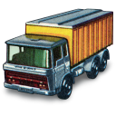 Daf Tipper Container Truck Emoticon