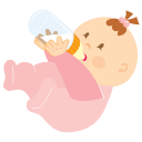 Baby Drinking Emoticon