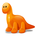 Dino Orange Emoticon
