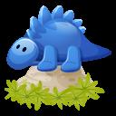 Dino Blue Emoticon
