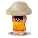 Caveman Rock Emoticon