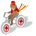 Monkey Bicycle Emoticon