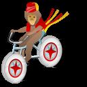 Monkey Bicycle Emoticon