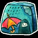 Season Rainy Emoticon
