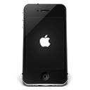 Iphone Black Apple Emoticon