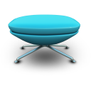 Skyblue Seat Emoticon
