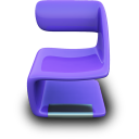 Purple Seat Emoticon