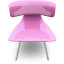 Pink Seat Emoticon