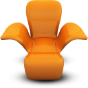 Orange Seat Emoticon