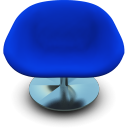 Blue Seat Emoticon