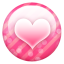 Pink Button Heart Emoticon