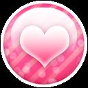 Pink Button Heart Emoticon