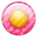 Pink Button 1 Emoticon