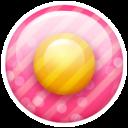 Pink Button 1 Emoticon