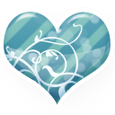 Heart Blue Emoticon