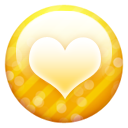Gold Button Heart Emoticon