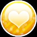 Gold Button Heart Emoticon
