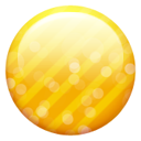 Gold Button Emoticon