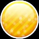 Gold Button Emoticon