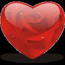 Rosy Heart Emoticon