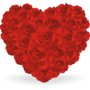Heart Of Roses Emoticon