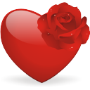 Heart And Rose Emoticon