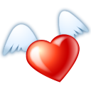 Flying Heart Emoticon
