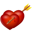 Arrow And Hearts Emoticon